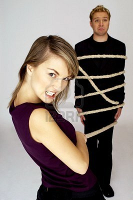 Husband Tied Up By Wife
